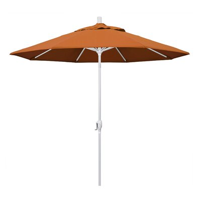 9 Market Umbrella Frame Finish: Matted White, Fabric: Tuscan