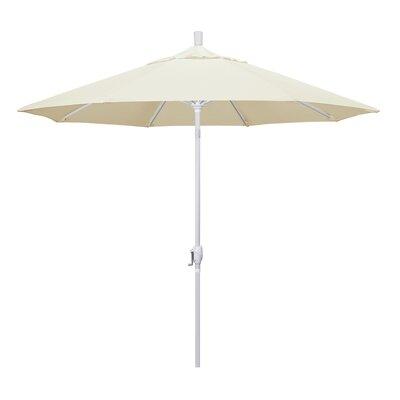 9 Market Umbrella Frame Finish: Matted White, Fabric: Canvas