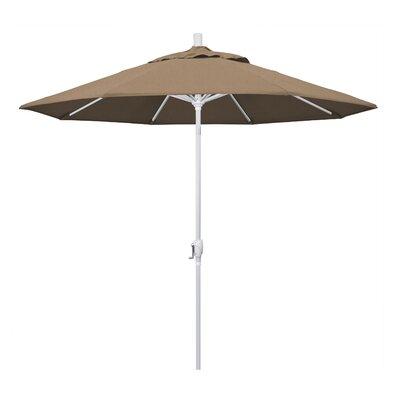 9 Market Umbrella Frame Finish: Matted White, Fabric: Camel