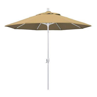 Cello 9' Market Umbrella Fabric: Champagne, Frame Finish: Matted White 0A2B6709082B4EE4BCE0A6215546B4A4