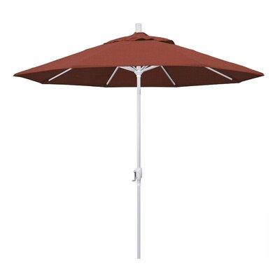 Darby Home Co Cello 9' Market Umbrella Fabric: Terracotta, Frame Finish: Matted White
