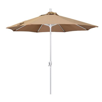 Cello 9' Market Umbrella Fabric: Terrace Sequoia, Frame Finish: Matted White 971CE08693AF4E4593D7E6524AEF540C