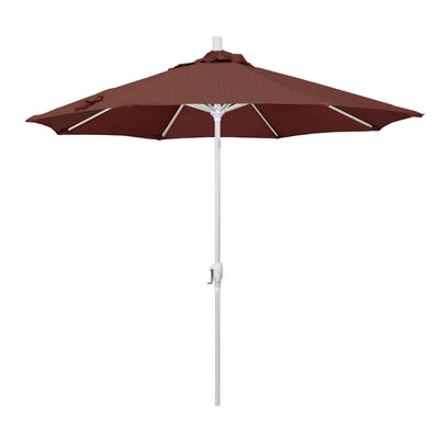 9' Market Umbrella Fabric: Terrace Adobe, Frame Finish: Matted White GSPT908170-FD12