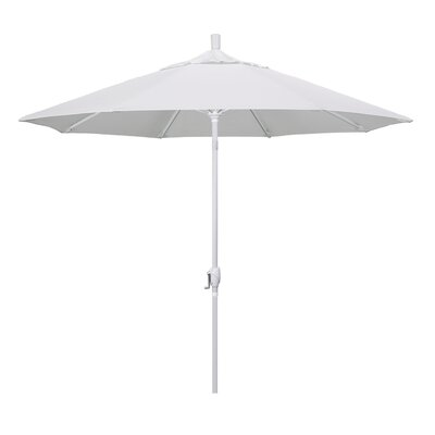 9 Market Umbrella Frame Finish: Matted White, Fabric: Natural