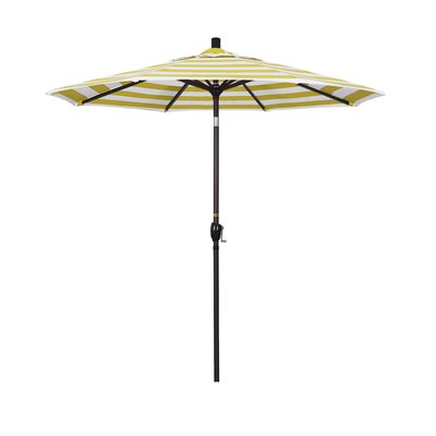7.5 Market Umbrella Fabric: Citron, Frame Finish: Bronze