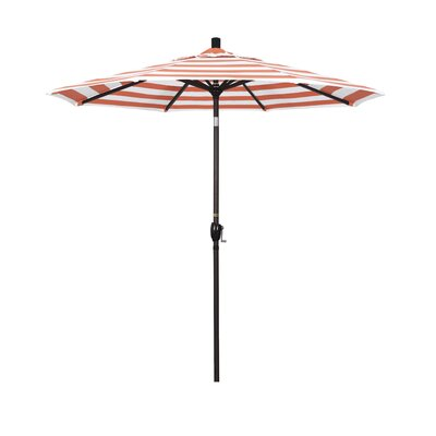 7.5 Market Umbrella Frame Finish: Bronze, Fabric: Flame