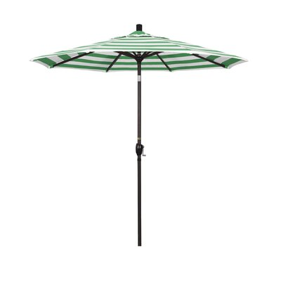 7.5 Market Umbrella Frame Finish: Bronze, Fabric: Emerald