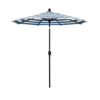 7.5 Market Umbrella Frame Finish: Bronze, Fabric: Regatta