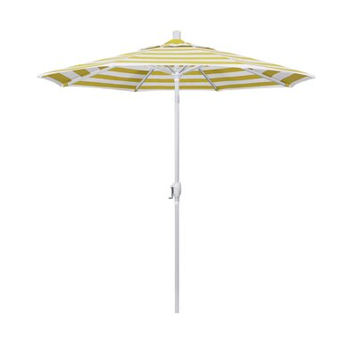 7.5 Market Umbrella Fabric: Citron, Frame Finish: Matted White