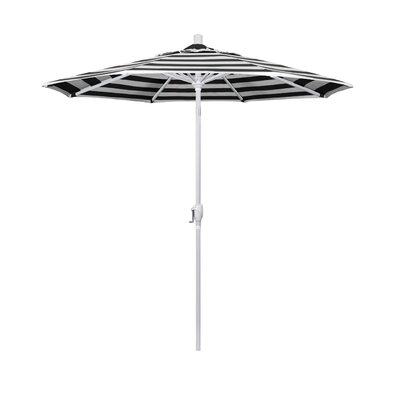 7.5 Market Umbrella Fabric: Classic, Frame Finish: Matted White
