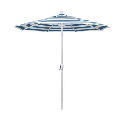7.5 Market Umbrella Fabric: Regatta, Frame Finish: Matted White