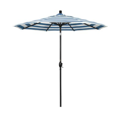 7.5 Market Umbrella Fabric: Regatta, Frame Finish: Matted Black