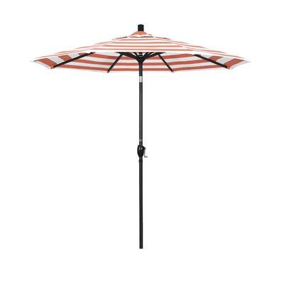7.5 Market Umbrella Fabric: Flame, Frame Finish: Matted Black