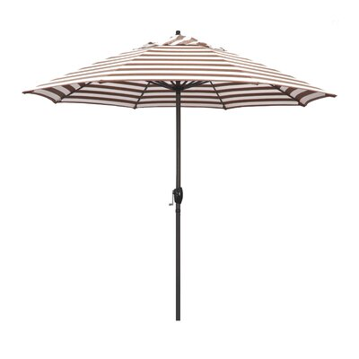 9 Sunline Market Umbrella Color: Brick White Cabana Stripe