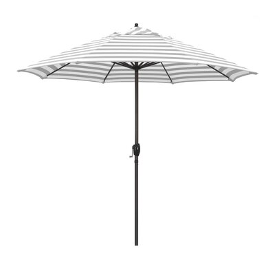 9 Sunline Market Umbrella Color: Gray White Cabana Stripe
