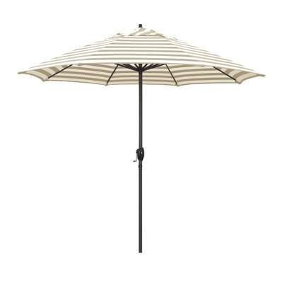 9 Sunline Market Umbrella Color: Beige White Cabana Stripe