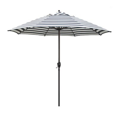 9 Sunline Market Umbrella Color: Navy White Cabana Stripe