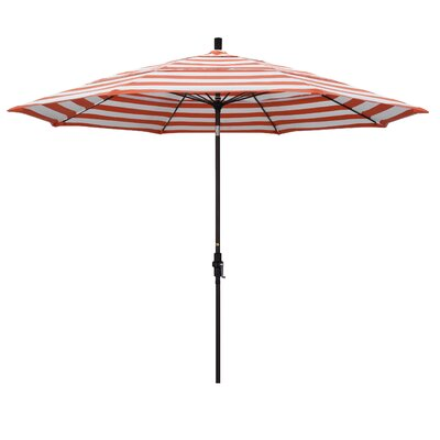 11 Market Umbrella Frame: Flame, Fabric: Matted Black