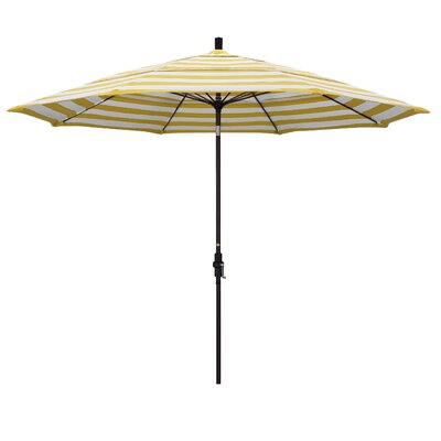 11 Market Umbrella Frame: Citron, Fabric: Matted Black