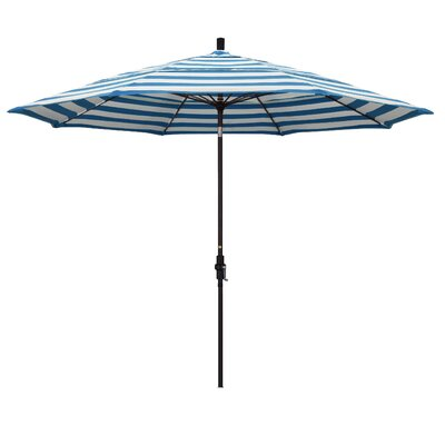 11 Market Umbrella Frame: Regatta, Fabric: Matted Black
