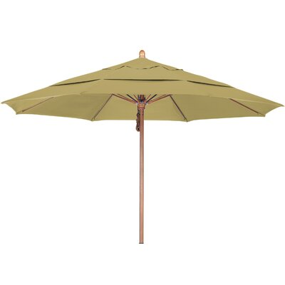 11 Market Umbrella Fabric: Sunbrella-Heather Beige, Frame Finish: Marenti Wood