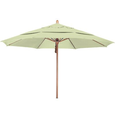 11 Market Umbrella Fabric: Sunbrella-Natural, Frame Finish: Marenti Wood
