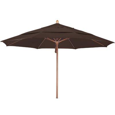 11 Market Umbrella Fabric: Sunbrella-Bay Brown, Frame Finish: Marenti Wood