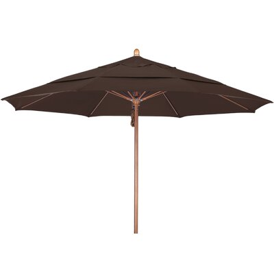 11 Market Umbrella Fabric: Pacifica Mocha, Frame Finish: Marenti Wood
