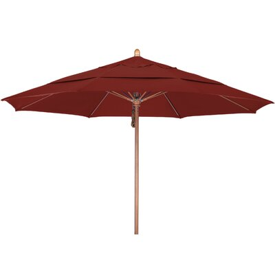 11 Market Umbrella Fabric: Sunbrella-Cornsilk, Frame Finish: Marenti Wood