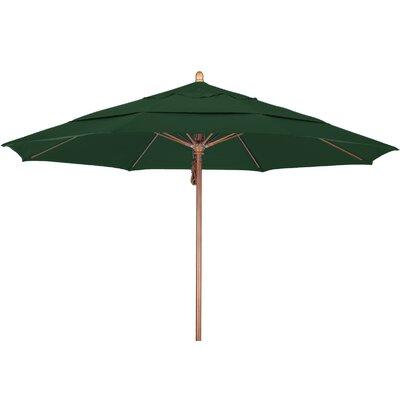 11 Market Umbrella Fabric: Pacifica Hunter Green, Frame Finish: Marenti Wood