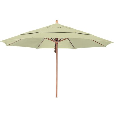 11 Market Umbrella Fabric: Pacifica Canvas, Frame Finish: Marenti Wood