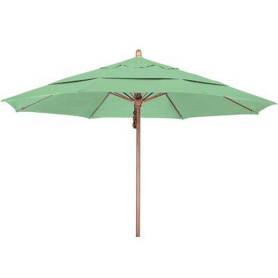 11 Market Umbrella Fabric: Pacifica Spa, Frame Finish: Marenti Wood