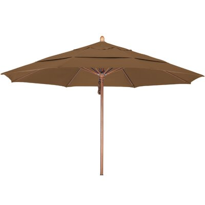11 Market Umbrella Fabric: Sunbrella A Canvas Teak, Frame Finish: Marenti Wood