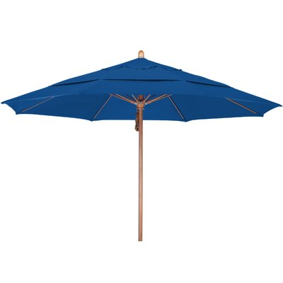 11 Market Umbrella Fabric: Pacifica Pacific Blue, Frame Finish: Marenti Wood
