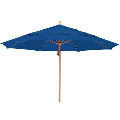 11 Market Umbrella Fabric: Pacifica Pacific Blue, Frame Finish: Marenti Wood