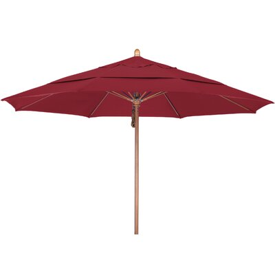 11 Market Umbrella Fabric: Pacifica Red, Frame Finish: Marenti Wood