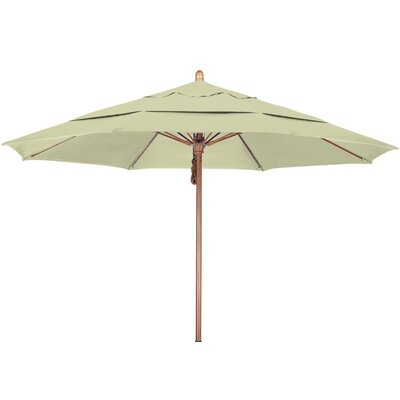 11 Market Umbrella Fabric: Sunbrella A Canvas, Frame Finish: Marenti Wood