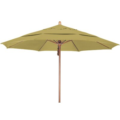 11 Market Umbrella Fabric: Sunbrella A Wheat, Frame Finish: Marenti Wood