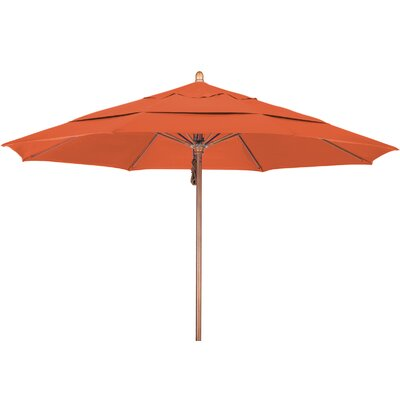 11 Market Umbrella Fabric: Sunbrella AA Tuscan, Frame Finish: Marenti Wood