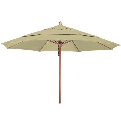 11 Market Umbrella Fabric: Sunbrella A Antique Beige, Frame Finish: Marenti Wood