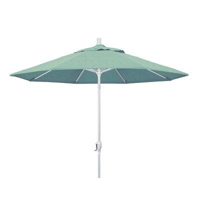 9 Market Umbrella Frame Finish: Matted White, Fabric: Sunbrella - Spa