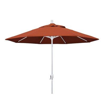 Cello 9' Market Umbrella Frame Finish: Matted White, Fabric: Sunbrella - Canvas Brick 32E910901C5F4376B916731FADA33F35