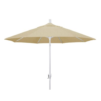 9 Market Umbrella Frame Finish: Matted White, Fabric: Sunbrella - Linen Champagne