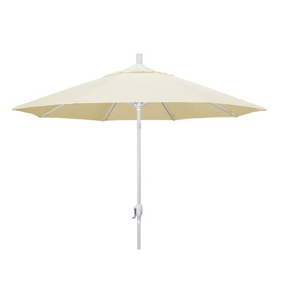 9 Market Umbrella Frame Finish: Matted White, Fabric: Sunbrella - Canvas Vellum