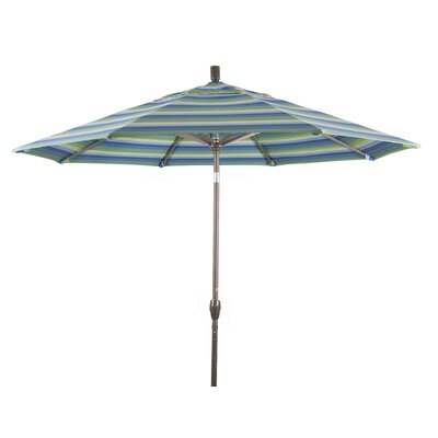 9' Market Umbrella Frame Finish: Matte Champagne, Color: Seville Seaside GSPT908900-5608