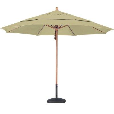 California Umbrella 11' Fiberglass Wood Market Umbrella - Fabric: Pacifica Black at Sears.com