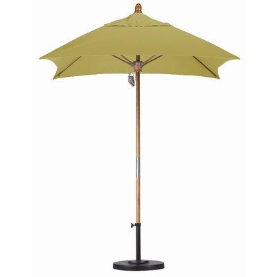 6 Square Market Umbrella Fabric: Sunbrella A Wheat, Frame Finish: Marenti Wood