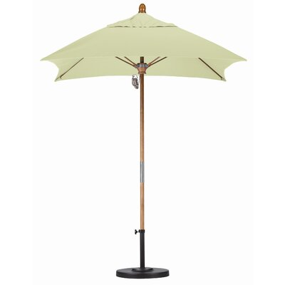 6 Square Market Umbrella Fabric: Sunbrella A Canvas, Frame Finish: Marenti Wood