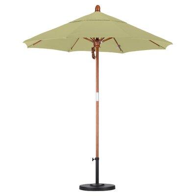 California Umbrella 7.5' Fiberglass  Marenti Wood Market Umbrella - Fabric: Sunbrella AA Tuscan at Sears.com
