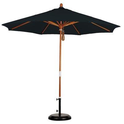 California Umbrella 9' Wood Market Umbrella (2 Pieces) - Fabric: Pacifica Mocha